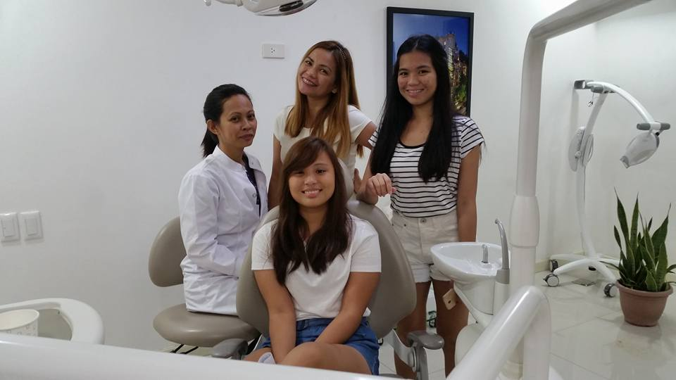 Dr. Malou with a group of patients